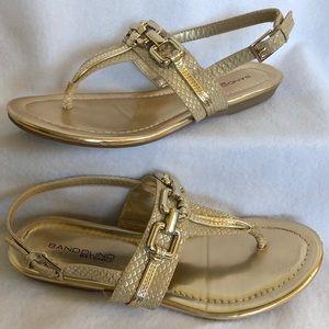 Bandilino Embossed Sandals